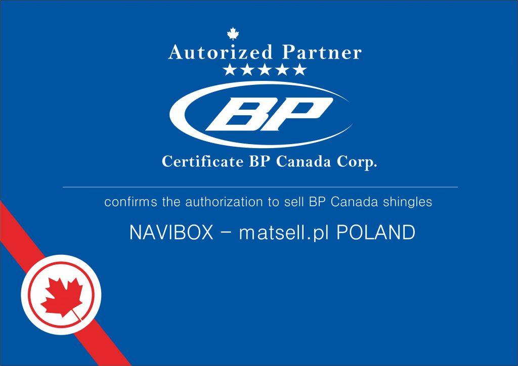 Certyfikat BP Canada Corp.